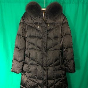 1 Madison limited collection quilted down fox coat
